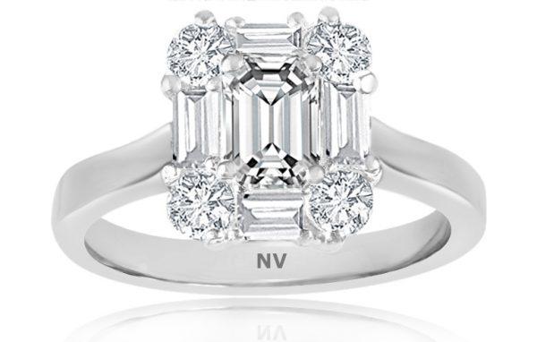white gold ladies ring
