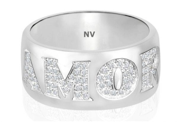 18ct white gold ladies ring set with 93=.50ct round brilliant cut diamonds, Colour G, Clarity VS.