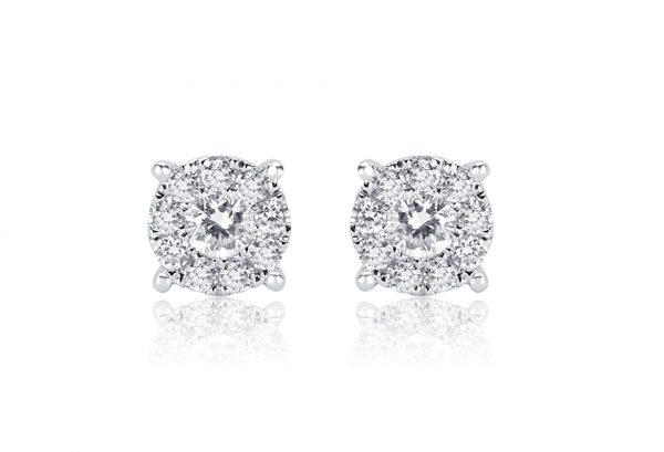 Ladies Cluster Design Earrings
