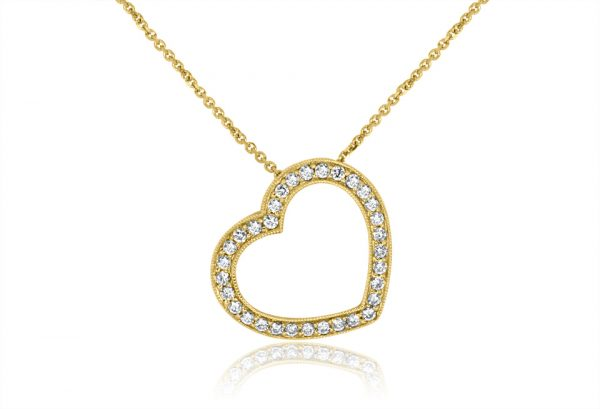 18ct Yellow Gold-Ladies Pendant