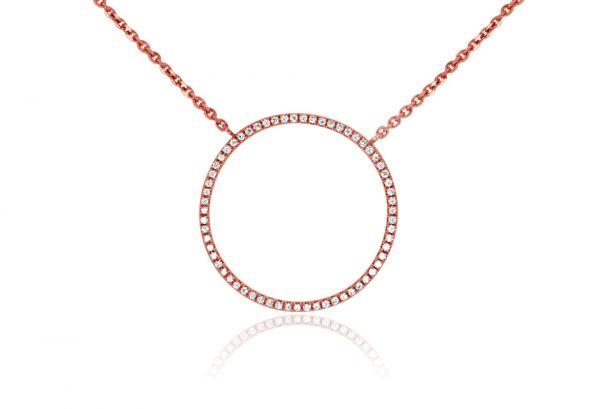 18ct White Gold Ladies Pendant set with 36.65ct round brilliant cut diamond