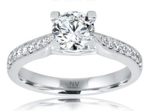 SOLITAIRE MULTI SET 18ct White Gold Ladies engagement ring
