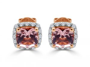 18ct Rose Gold Ladies Earrings