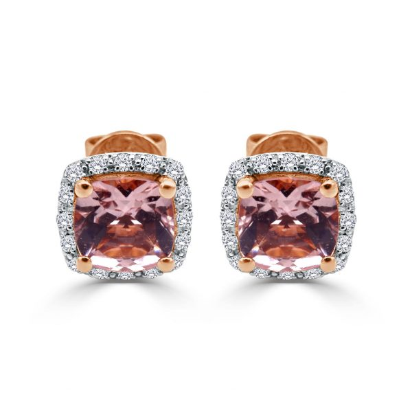 18ct Rose Gold Ladies Earrings